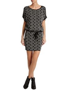 Morgan Fluid Geometric Pattern Dress