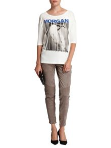 Morgan Bar Code Motif T-Shirt