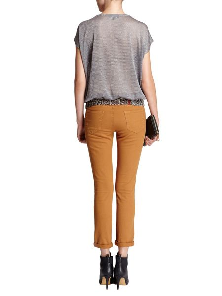 Morgan 7/8-length plain colour trousers