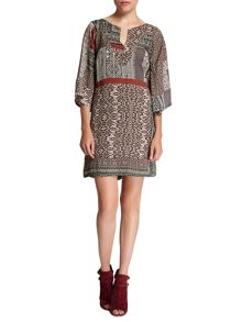 Morgan Fluid Multi-Coloured Pattern Dress