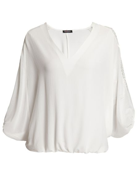 Morgan Fluid Plain Colour Lace Top