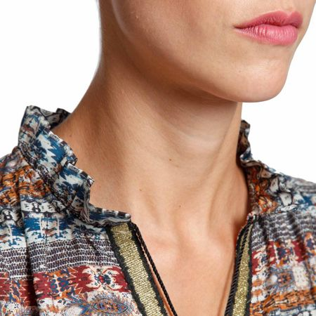 Morgan Patterned ethnic-inspired blouse