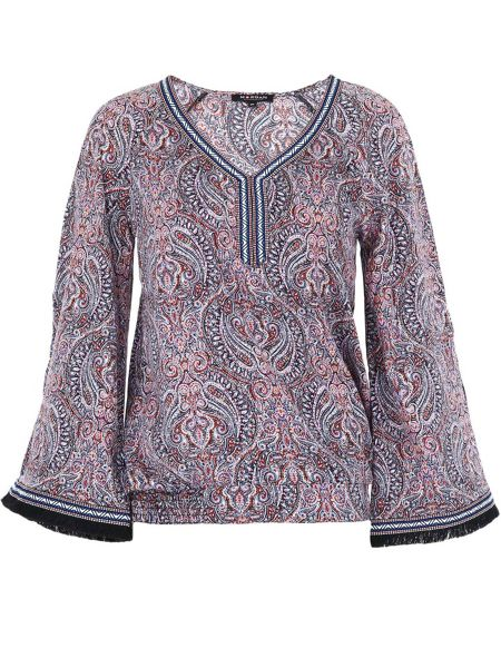 Morgan Wide-sleeve patterned top