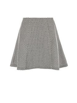 Checked panelled miniskirt