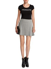 Morgan Checked panelled miniskirt