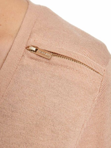 Morgan Zipped-Detail Cotton Cardigan