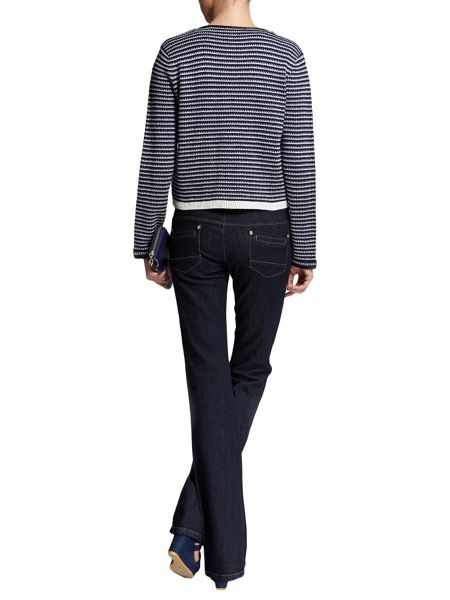 Morgan Knitted Striped Cotton Sweater