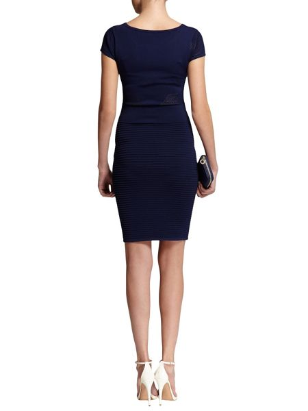 Morgan Fitted Openwork-Detail Knitted Dress