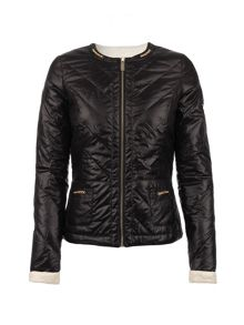 Morgan Quilted Shiny-Look Jacket