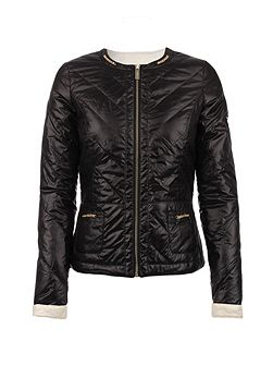 Quilted Shiny-Look Jacket