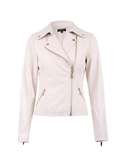 Biker-Style Zipped-Detail Jacket