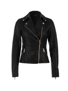 Morgan Biker-Style Zipped-Detail Jacket