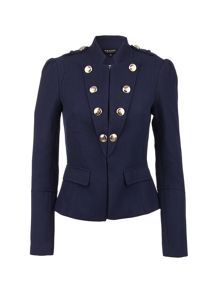 Morgan Military-Style Fitted Jacket