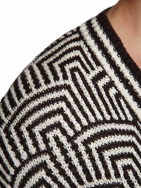 Morgan Graphic-Print Knitted Cardigan