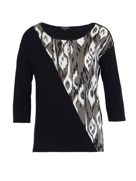 Morgan Contrast shoulder-detail top