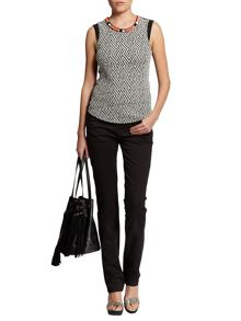 Morgan Knitted Sleeveless Patterned Cotton Top
