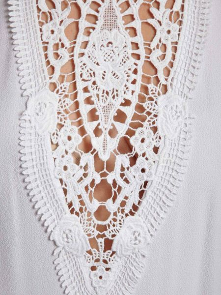 Morgan Lace-Patterned Cut-Out Top