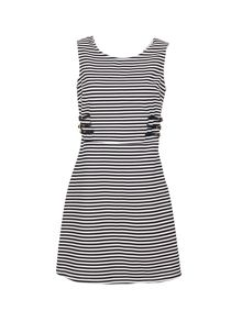 Morgan Nautical A-Line Dress With Cut-Out Rear