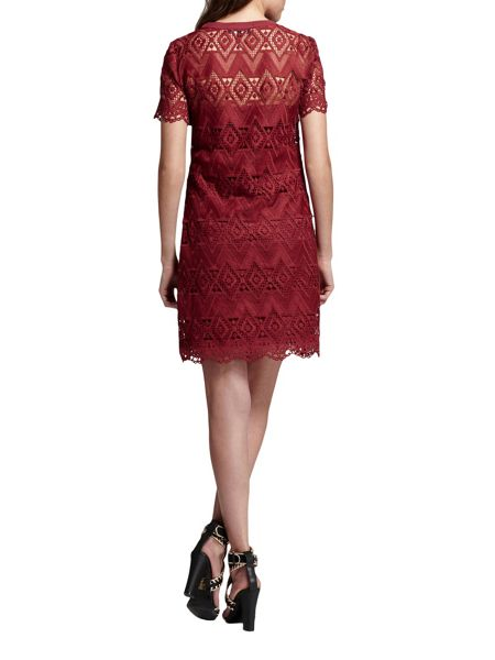 Morgan Patterned Cotton Lace Dress