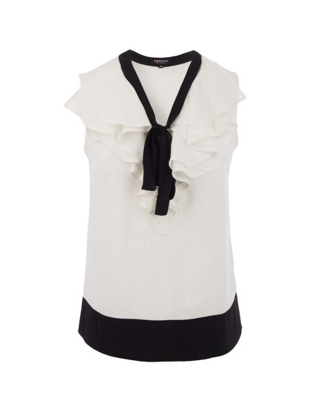 Morgan Ruffle and tie-detail top