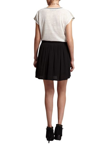 Morgan Gently Gathered Crepe Short Skirt