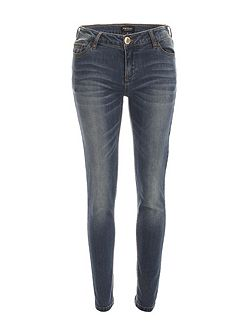 Slim-Fit Faded-Detail Cotton Jeans