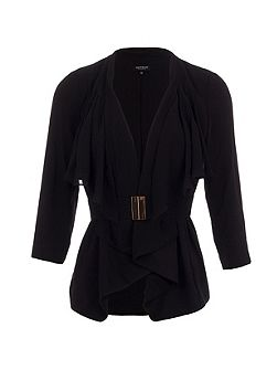 Belted Waterfall-Style Jacket