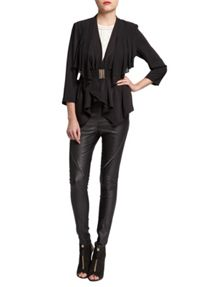 Morgan Belted Waterfall-Style Jacket