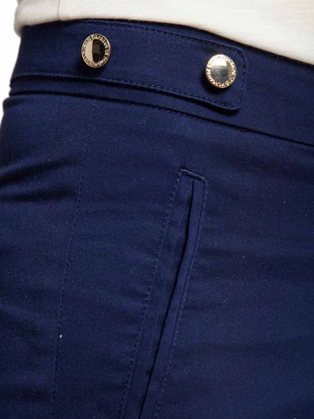 Morgan Cropped button-detail cotton trousers