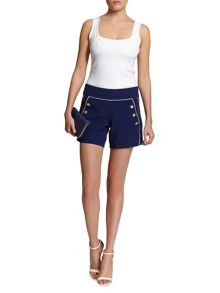 Morgan Sailor-Style Contrasting Piping Shorts