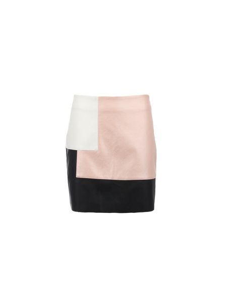 Morgan Leather-Look Panelled Skirt