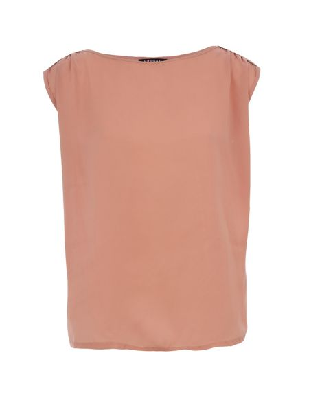 Morgan Contrasting Fabric Zip Detail Top