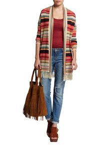 Morgan Long striped cardigan