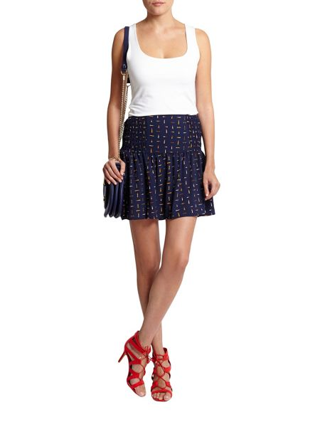 Morgan Ruffled Printed Skirt