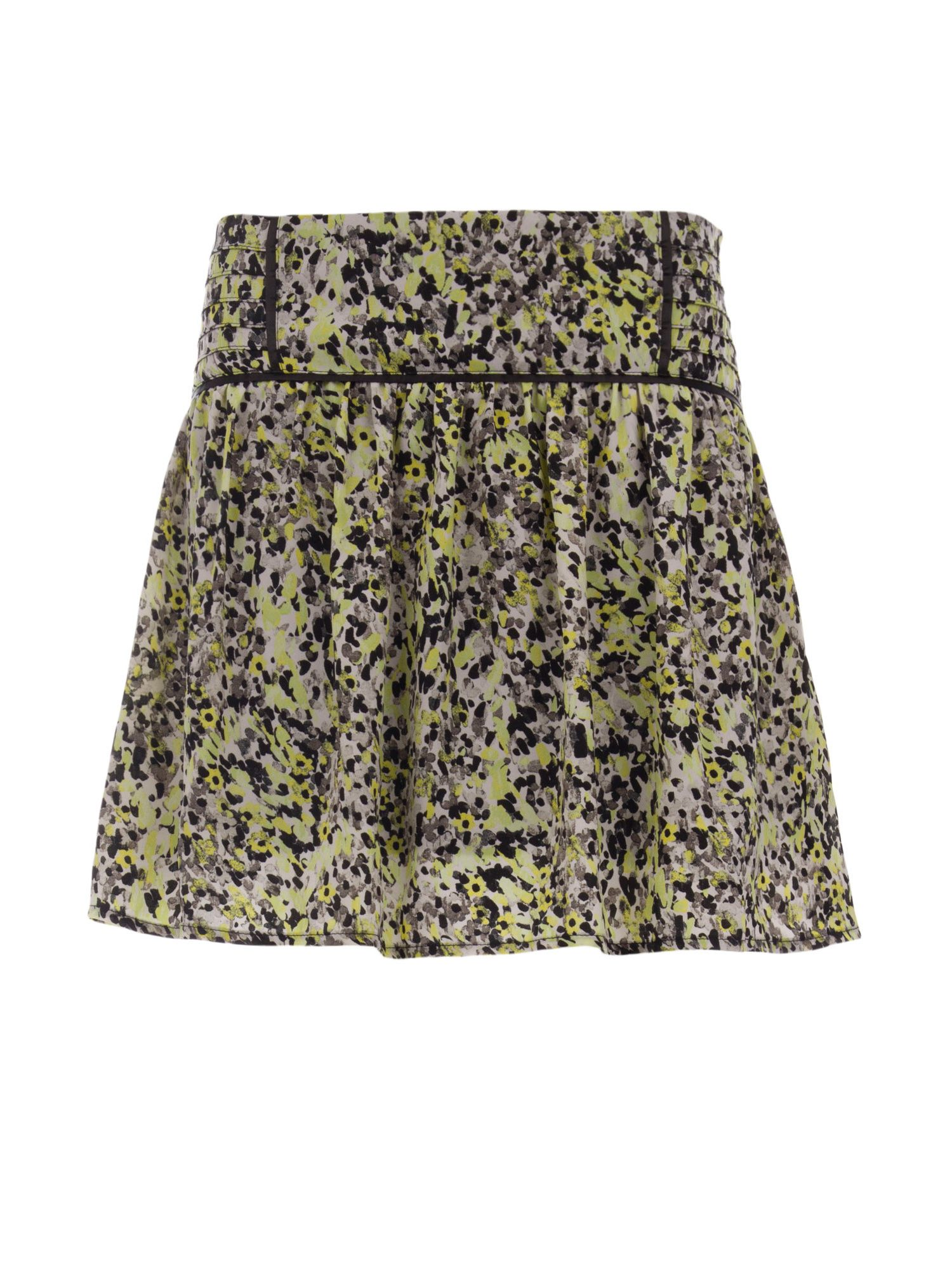 Morgan Patterned Flared Skirt, Yellow