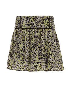 Patterned Flared Skirt
