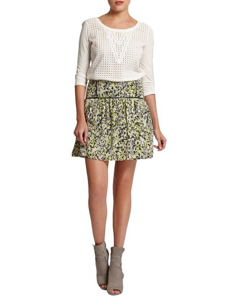 Morgan Patterned Flared Skirt