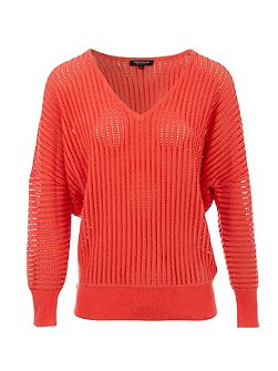 Ribbed-Effect Cotton Sweater