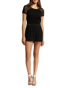 Morgan Openwork Detail Short Playsuit