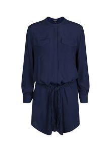 Morgan Cotton-Belt Shirt Dress