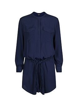 Cotton-Belt Shirt Dress