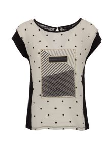 Morgan Front-print cotton and modal top