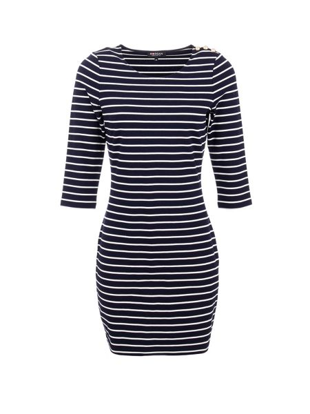 Morgan Nautical Bodycon Dress In Stretch Fabric