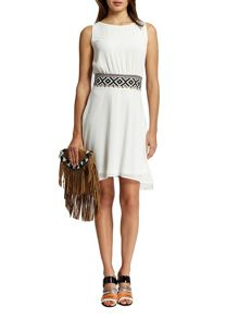 Morgan Belted-Waist Shift Dress
