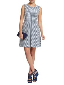 Morgan Striped Eyelet-Detail Dress