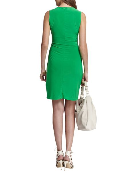 Morgan Zip-Front Knitted Dress
