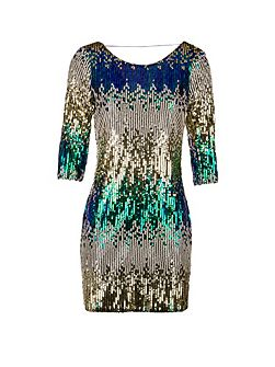 Open-Back Sequinned Dress