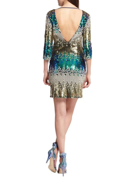Morgan Open-Back Sequinned Dress