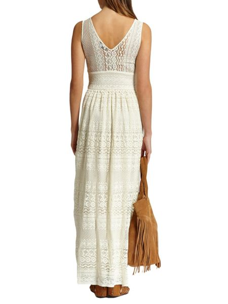 Morgan Ankle-Length Openwork 100% Cotton Dress