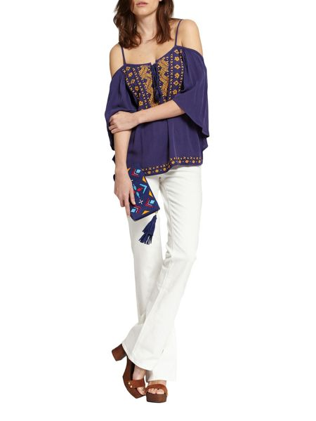Morgan Embroidered Off-The-Shoulder Top